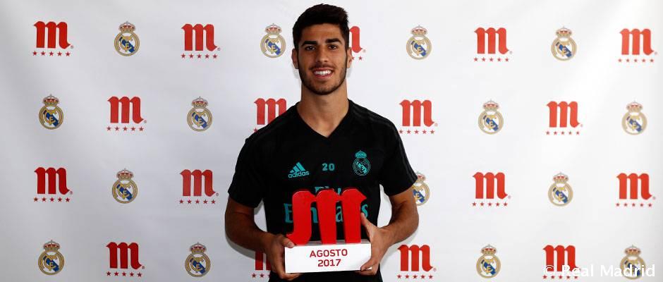 مارکو آسنسیو جایزه بهترین بازیکن ماه آگوست رئال مادرید را دریافت کرد