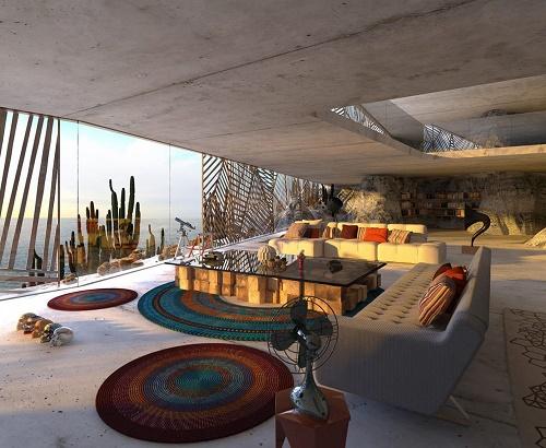 دکوراسیون خاص و خارق العاده ی خانه ی ماگا در کالیفرنیا