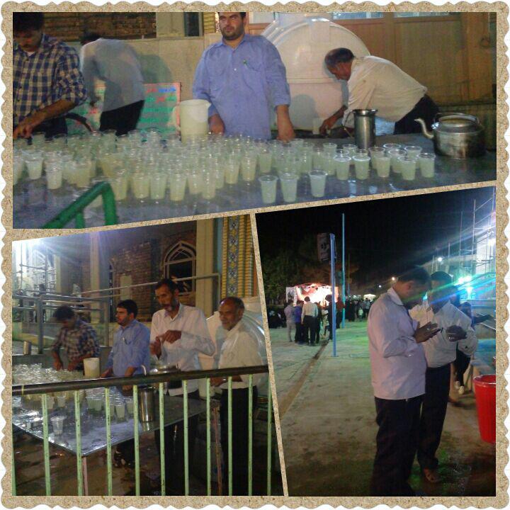 توزیع شربت توسط اعضای ستاد نماز جمعه در سید محمد