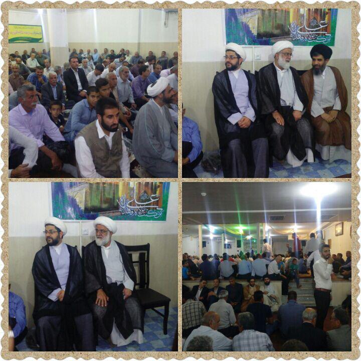 حضور امام جمعه محترم شهر قهدریجان در منزل حاج آقا موسوی نماینده مجلس
