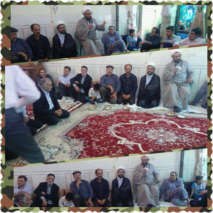 حضور امام جمعه محترم شهر قهدریجان در منزل اقای جمالی و مراسم های خانگی سطح شهر