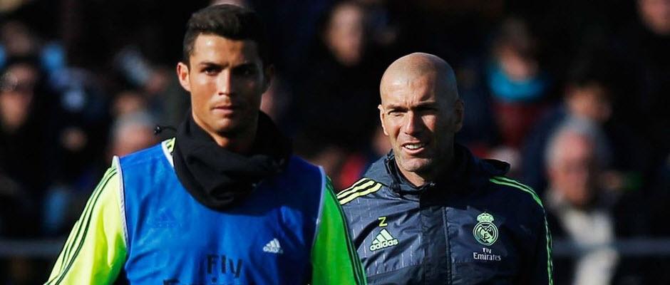 زیدان: کریستیانو رونالدو بهترین بازیکن دنیاست؛ از کارم در رئال مادرید لذت می برم