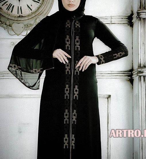 مدل مانتو مجلسی سیاه2018