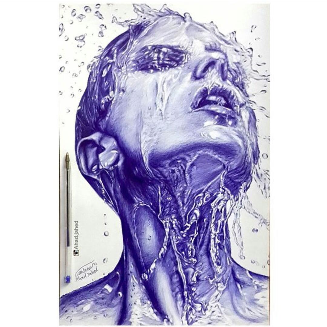 مدل نقاشی با خودکار