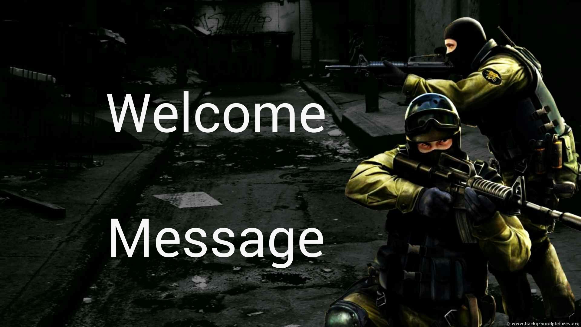 دانلود پلاگین Welcome Message برای کانتر استریک 1.6