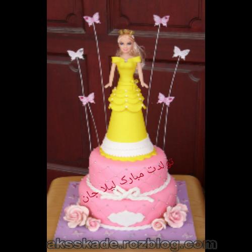 کیک تولد اسم لیلا - عکس کده