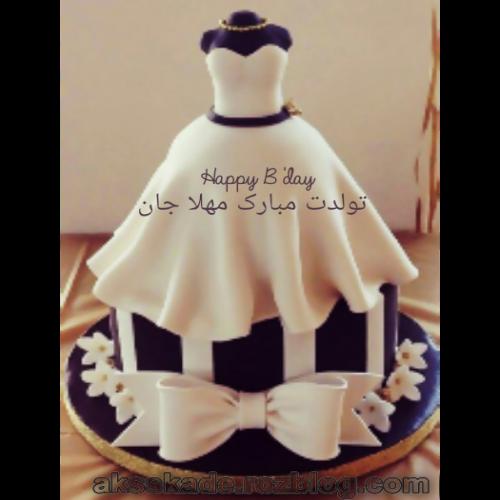 کیک تولد اسم مهلا - عکس کده