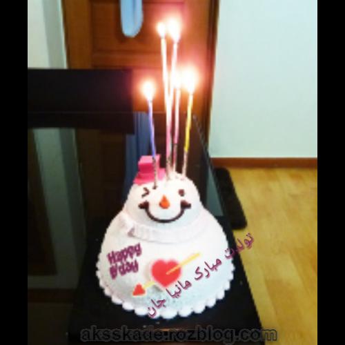 کیک تولد اسم مانیا - عکس کده