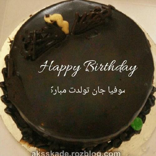 کیک تولد اسم سوفیا - عکس کده