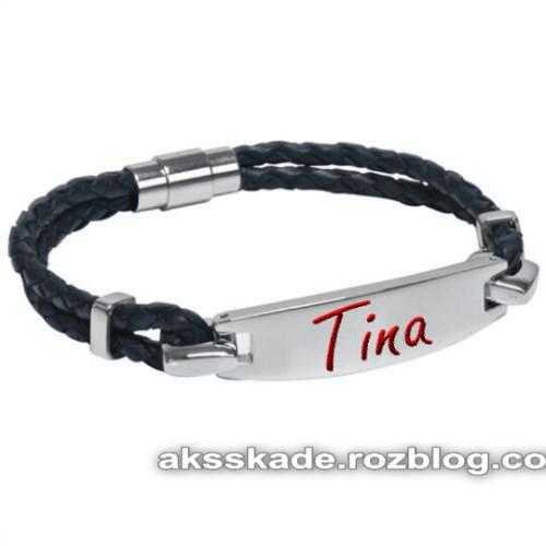 طرح دستبند اسم تینا