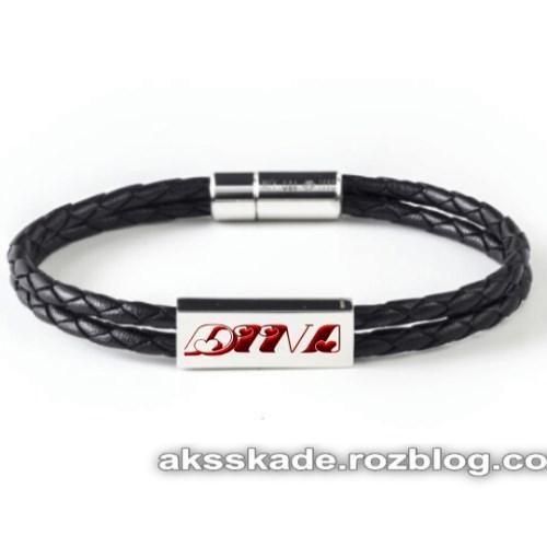 طرح دستبند اسم دینا - عکس کده