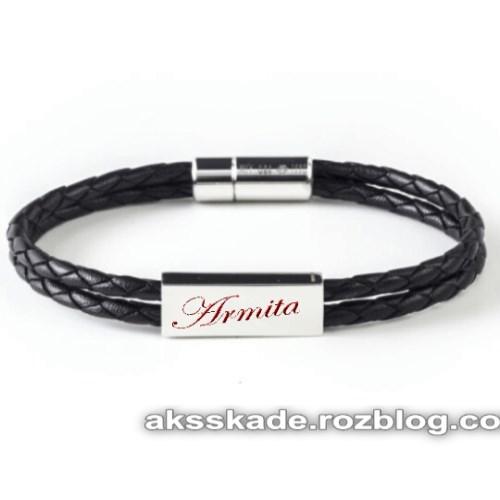 طرح دستبند اسم آرمیتا - عکس کده