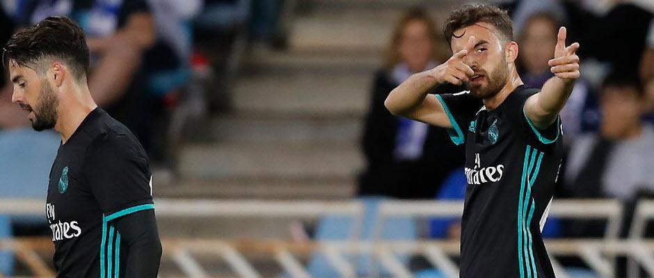 برتری 2-1 رئال مادرید مقابل رئال سوسیداد در نیمه اول