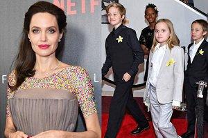 عکس آنجلینا جولی به همراه فرزندانش در مراسم افتتاحیه فیلم جدیدش