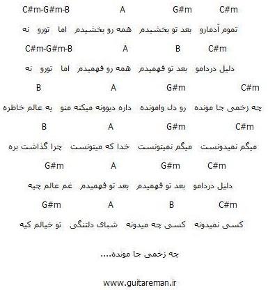آکورد آهنگ بعد تو از محسن یگانه