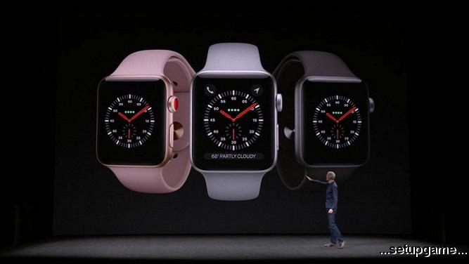 نسل سوم از ساعتهای هوشمند اپل با ارتباط LTE، پردازندهای قدرتمندتر و شارژدهی بهتر معرفی شد