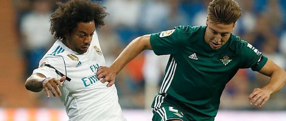 نیمه اول دیدار رئال مادرید و رئال بتیس با نتیجه 0-0 به پایان رسید