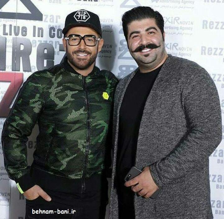 بهنام بانی در کنار محمدرضا گلزار در کنسرت گلزار