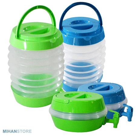 کلمن تاشو مسافرتی Collapsible Water Containers با ظرفیت 5.5 لیتری