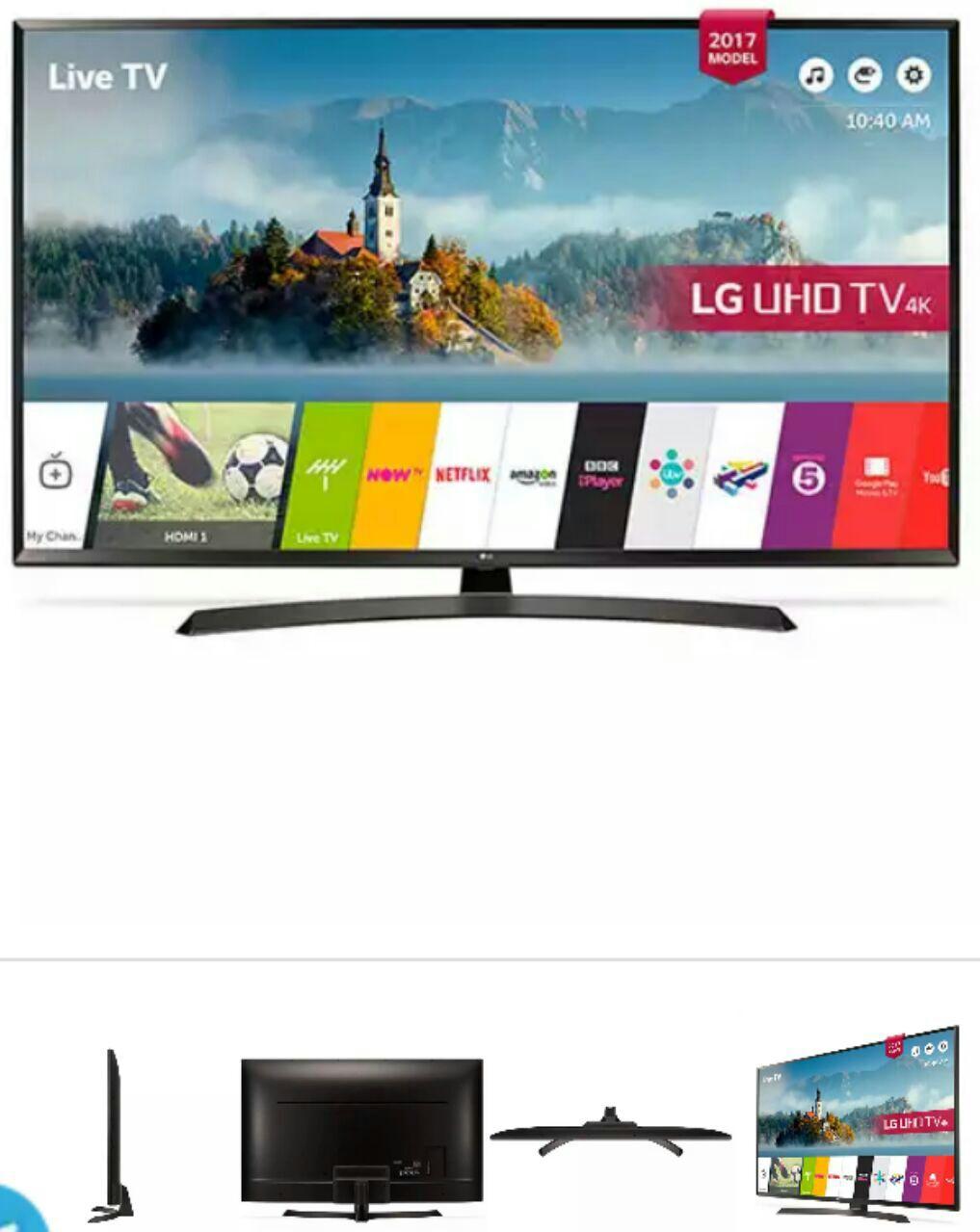 تلویزیون LED ال ای دی 55 اینچ ال جی LG مدل 55UJ634V  اسمارت SMART فورکی 4k r