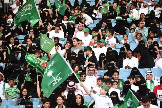 زنان در عربستان به ورزشگاه رفتند