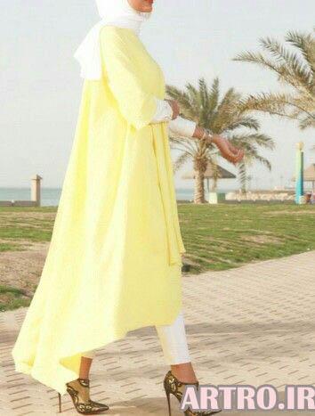 جدیدترین مدل مانتو بلند زنانه و دخترانه 2018