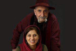 بوسه مائده طهماسبی برصورت همسرش فرهاد آئیش در تولد 65 سالگی اش! عکس