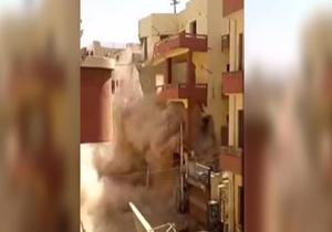 لحظه هولناک فروریختن ساختمان 5 طبقه مسکونی + فیلم