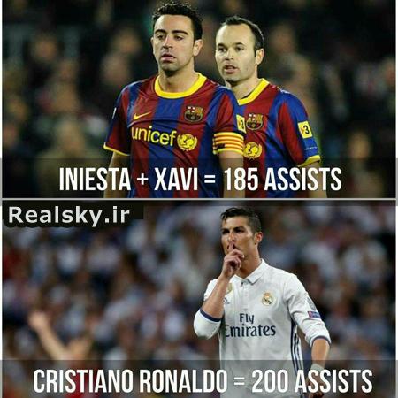 آمار جالب پاس گل های بازیکنان رئال مادرید و بارسلونا