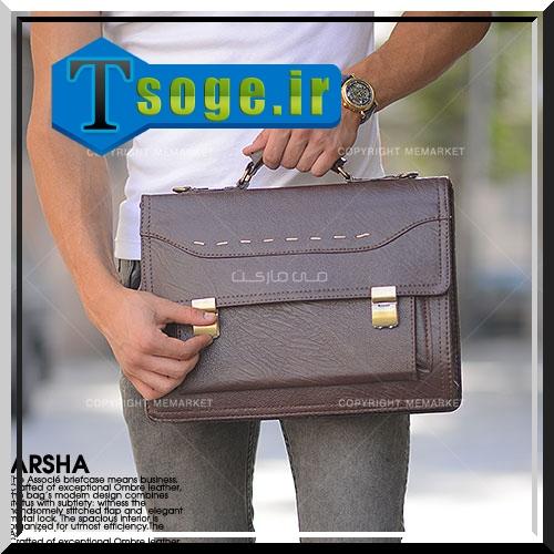 کیف دستی مردانه قهوه ای