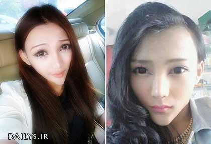 عکس های چهره مثلثی دختر باربی چینی