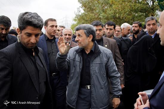 مراسم تشییع برادر محمود احمدی نژاد برگزار شد+تصاویر