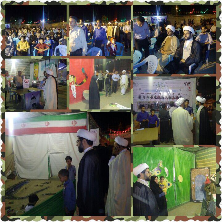 بازدید از غرفه های و شرکت در مراسم مسجد بلال توسط امام جمعه محترم شهر و رئیس بنیاد غدیر بخش قهدریجان