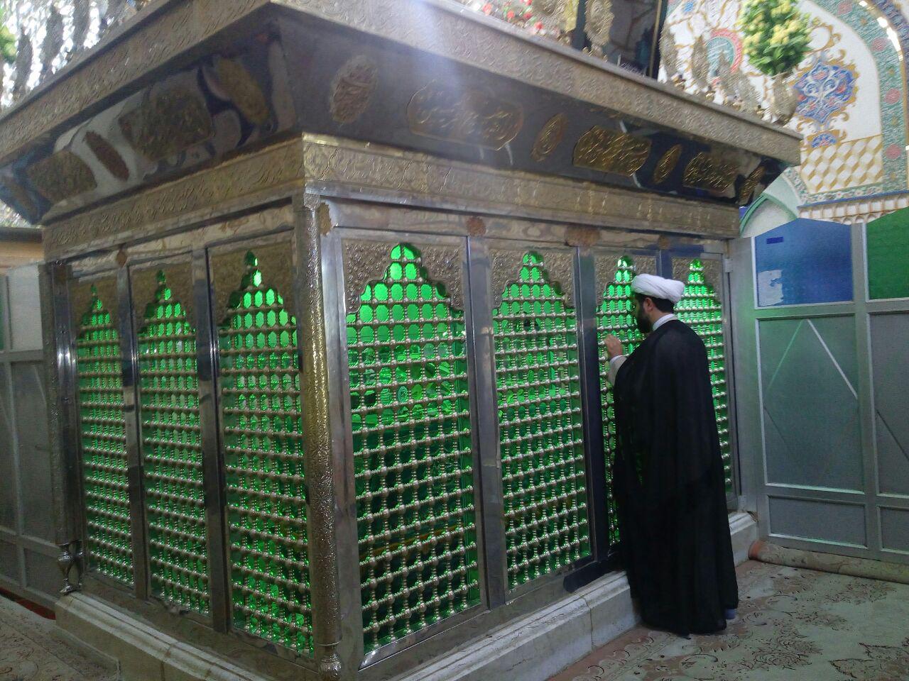 زیارت سید محمد قهدریجان توسط امام جمعه محترم شهر قهدریجان
