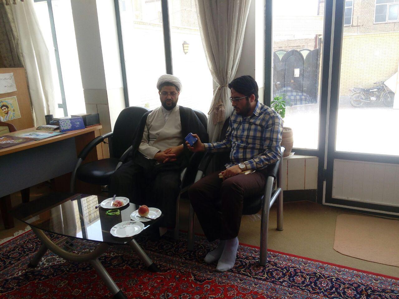 مصاحبه امام جمعه محترم شهر با خبرنگار خبرگزاری فارس