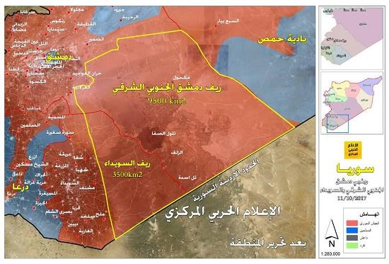 ارتش سوریه 13 هزار کیلومتر مربع از جبهه جنوبی را آزاد کرد + نقشه و جزئیات