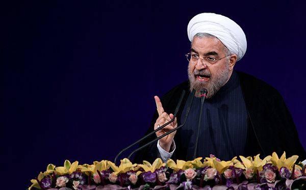 حجت الاسلام و المسلمین دکتر حسن روحانی در پاسخ به مواضع ضد ایرانی دونالد ترامپ
