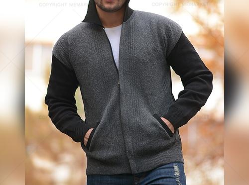 خرید سوئیشرت جیب دار زیپ دار مردانه