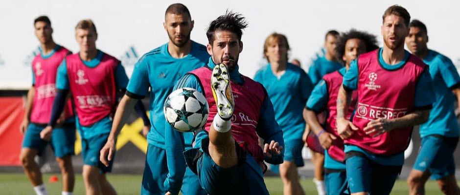 برگزاری آخرین تمرین رئال مادرید پیش از دیدار با تاتنهام