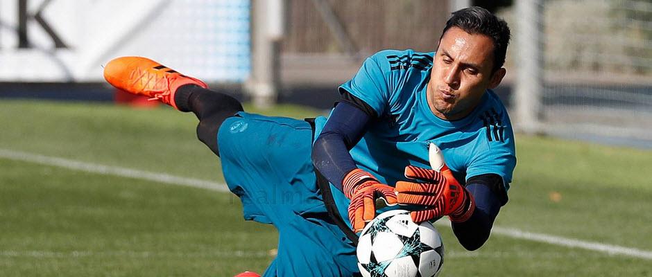 حضور بدون مشکل کیلور ناواس در تمرین رئال مادرید