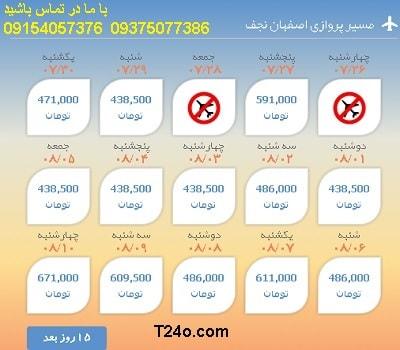 خرید بلیط هواپیما اصفهان به نجف+09154057376