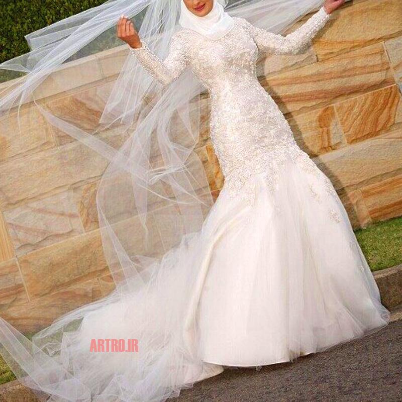 مدل لباس عروس پوشیده 2018