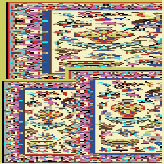 نقشه فرش زير انداز (شطرنجي) نوع
