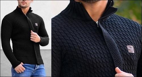 خرید سویشرت مشکی ساده و کلاه دار مردانه پسرانه