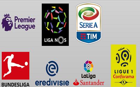 دانلود لوگو پک ۷ لیگ معتبر اروپایی به صورت png برای PES 2018