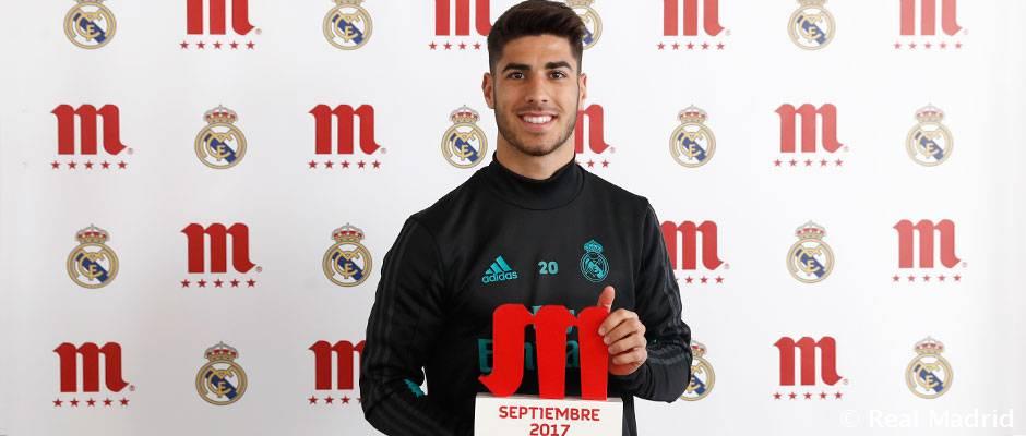 مارکو آسنسیو، بهترین بازیکن ماه سپتامبر رئال مادرید به انتخاب هواداران