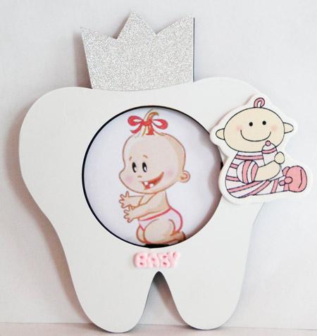 خرید قاب عکس نوزاد هدیه دندونی