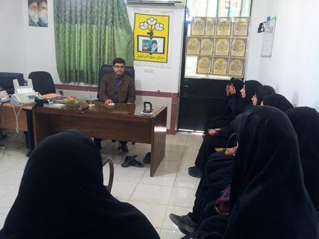 حضور مسئول بسیج دانش آموزی استان در ممسنی