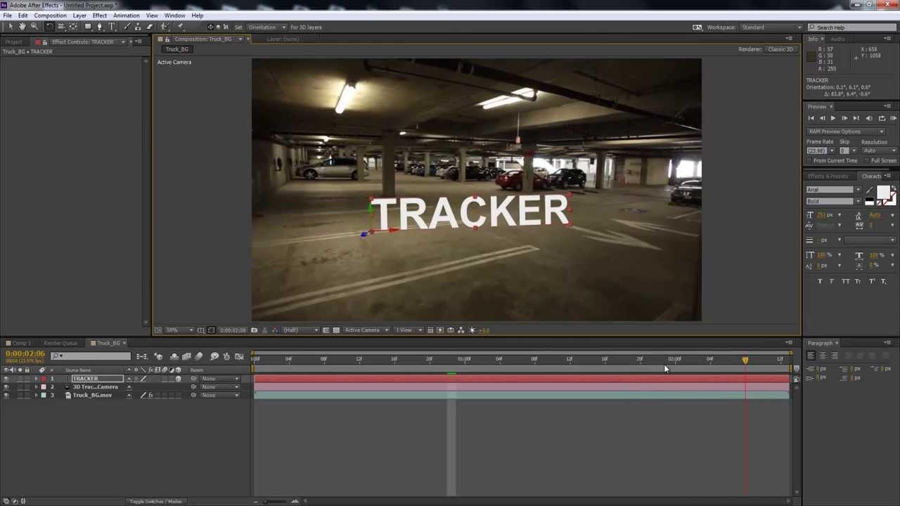 آموزش کار با Camera 3D Tracker در افتر افکت
