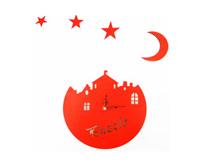 ساعت دیواری دکوراتیو ماه و ستاره کلبه فانتزی